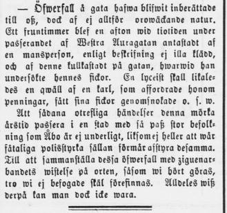 Åbo Underrättelser 8 nov 1879