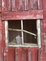 Det gamla fönstret var helt igenbommat. Av en god anledning.